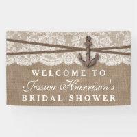 Rustic Nautical Anchor Beach Bridal Shower Banner