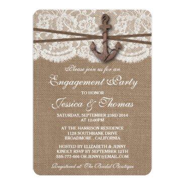 Invitation_Republic Rustic Nautical Anchor Beach Engagement Party Card