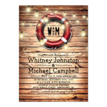 Rustic Nautical Beach Theme Twinkle Lights Wedding