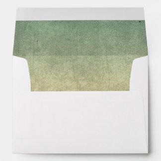 Rustic Nautical Grunge Texture Wedding Envelope