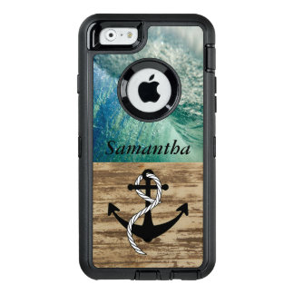 Rustic Nautical Ocean Wave Case