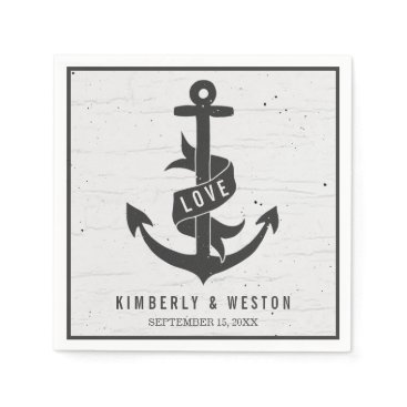 Beach Themed Rustic Nautical Personalized Wedding Napkins