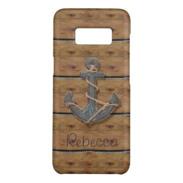 Beach Themed Rustic nautical preppy beach driftwood anchor Case-Mate samsung galaxy s8 case