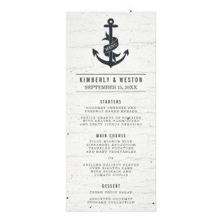 Rustic Nautical Wedding Menu