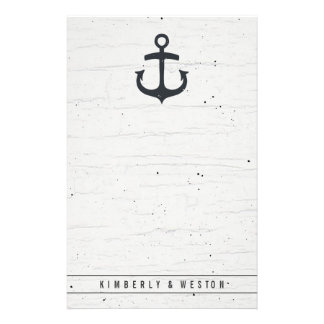 Rustic Nautical Wedding Stationery Note Paper