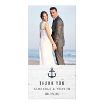 Rustic Nautical Wedding Thank You Photo Card