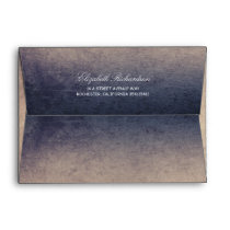 Rustic Navy and Cream Wedding Envelope