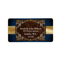 "rustic ""navy blue""l wedding return address label"