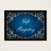 "rustic ""navy blue"" regal Gift registry  Cards"