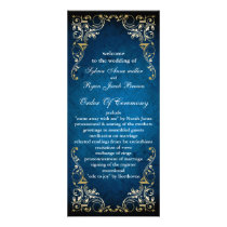 "rustic ""navy blue"" regal  wedding program"