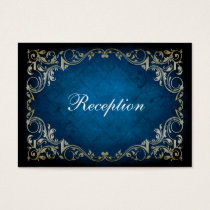 "rustic ""navy blue"" regal wedding reception cards"