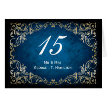 "rustic ""navy blue""regal wedding table seating card"