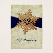 "rustic ""navy blue"" snowflakes Gift registry  Cards"