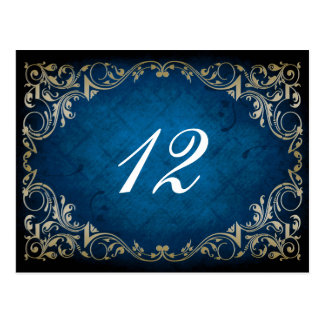 """rustic """"navy blue""""  wedding table seating card"""