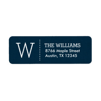 Rustic Navy Custom Monogram Label