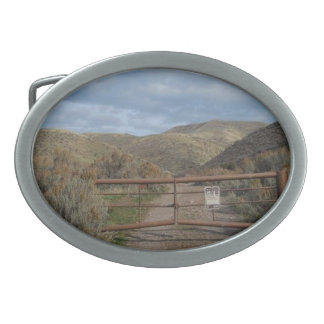Rustic Nevada Mountains Belt Buckle