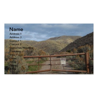 Rustic Nevada Mountains Customizable Business Card