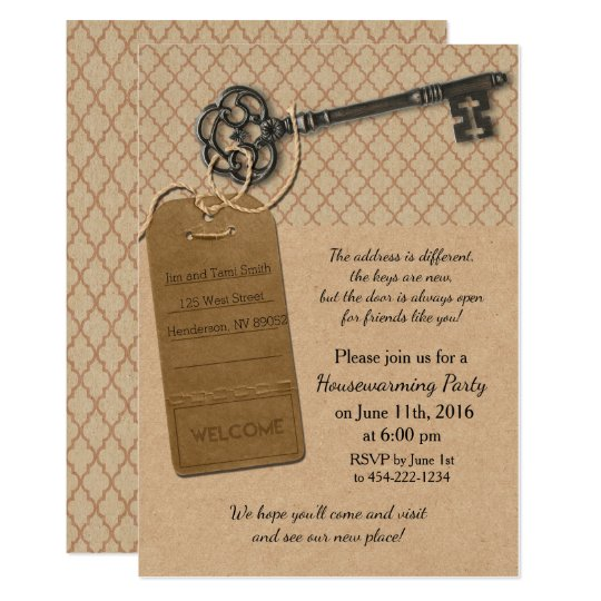 Rustic New Home Housewarming Party Invitation