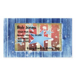 Rustic New Years Business Card Templates