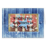 Rustic New Years Greeting Card