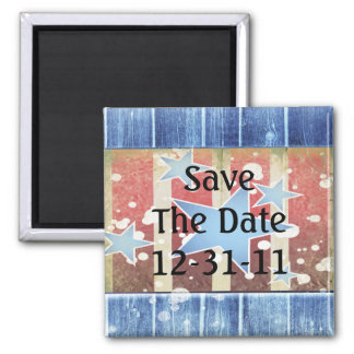 Rustic New Years Magnet