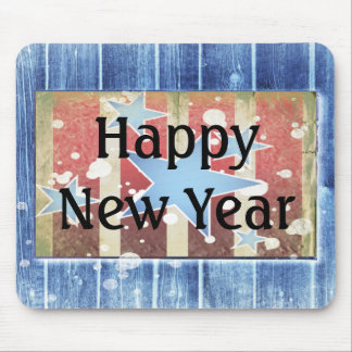 Rustic New Years Mouse Pad