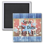 Rustic New Years Refrigerator Magnet