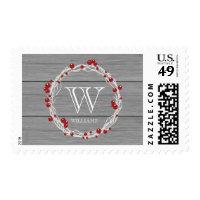 Rustic Noel Monogrammed Christmas Stamp