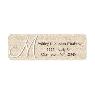 Rustic Oak Address Label