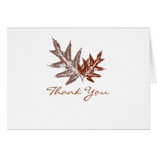 Rustic Oak Leaf Thank You Cards