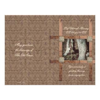 Rustic Oak Pagan Pentacle Wiccaning/Saining Custom Flyer
