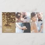 "Rustic Oak Tree Lights Wedding Thank You<br><div class=""desc"">Enchanted string lights tree 3 photos rustic wedding thank you photo card</div>"
