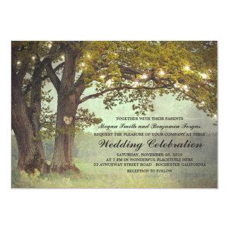 Rustic Oak Tree Romantic Wedding Invitation