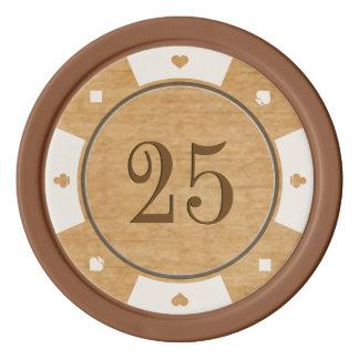Rustic Oak Wood Casino Style Poker Chips