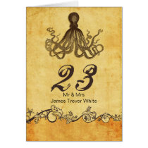 rustic octopus beach wedding table numbers