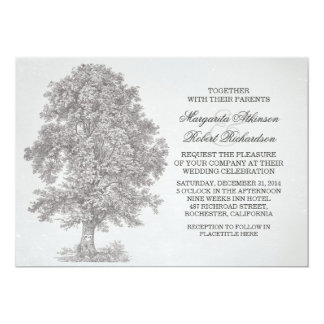 "rustic ol tree wedding invitations 5"" x 7"" invitation card"