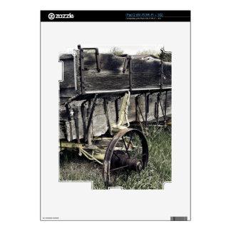 Rustic Old Antique Farm Wagon Skin For iPad 2