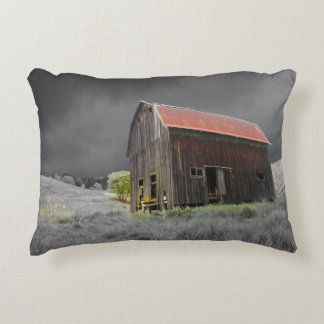 Rustic Old Barn Accent Pillow
