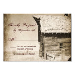 Rustic Old Barn Country Wedding RSVP Cards Personalized Announcements