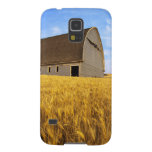 Rustic old barn in mature wheat field in the galaxy s5 covers