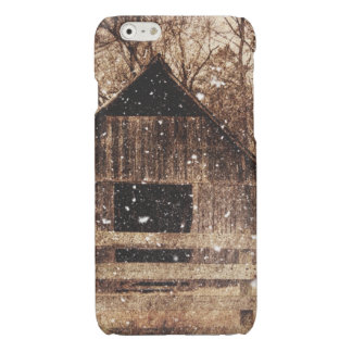 Rustic old barn in winter. glossy iPhone 6 case