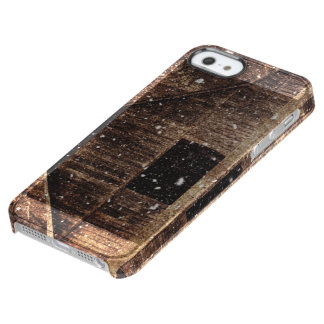 Rustic old barn in winter. uncommon clearly™ deflector iPhone 5 case