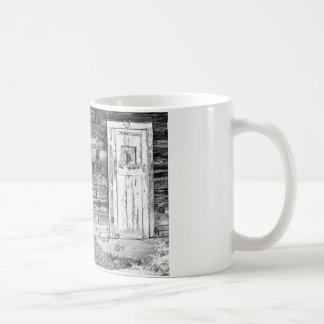 Rustic Old Colorado Barn Door and Window BW Coffee Mug