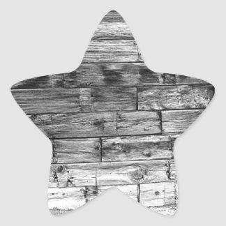 Rustic Old Colorado Barn Door and Window BW Star Sticker