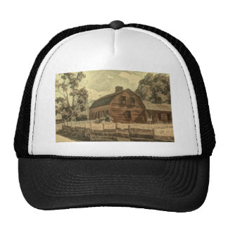 rustic old country barn  design trucker hat