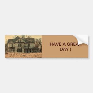 Rustic old farm house car bumper sticker