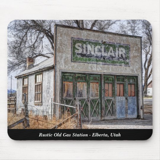 Rustic Old Gas Station - Elberta, Utah Mouse Pad