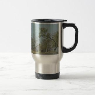 rustic old house coffee mug