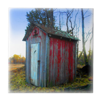 Rustic Old Junk Yard Outhouse Ceramic Tiles