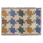 Rustic Old Mosaic Tiles Rugs Throw